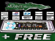 Mutant MT-CDM501UCR Car Stereo CD MP3 SD USB Player+FREE