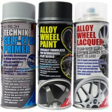 Car Charcoal Alloy Wheel Spray Paint Kit