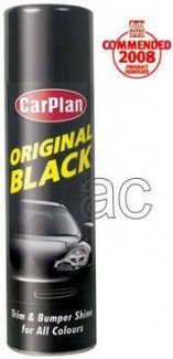 3 x Carplan Original Black Trim Tyre Bumper Shine Spray