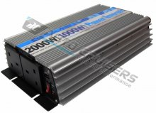 12v DC - 230v AC Converter 1000w, 2000w 2 Way Power Inverter