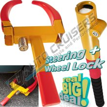 Car Van Caravan Trailer Heavy Duty Baseball Steering Wheel Clamp