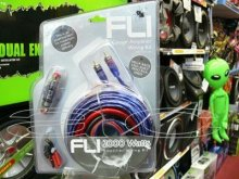 FLI AK4 4 GAUGE 2000W CAR AMPLIFIER AMP LED WIRING KIT