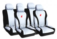 Black Silver Grey Carbon Fibre Look RS Car Seat Covers