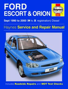 Haynes Repair Service Manual-Ford Escort & Orion Diesel (Sept 90
