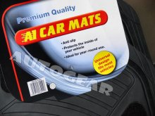 Premium Quality Universal Black Rubber Carpet Car Mats