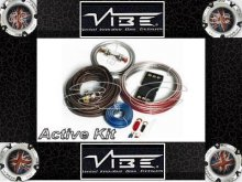 VIBE FLAT 8 GAUGE 1500W AMPLIFIER AMP WIRING ACTIVE KIT
