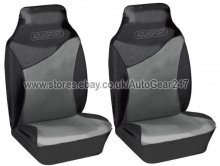 Black Grey Water Proof Car Front Seat Covers,Air Bag OK