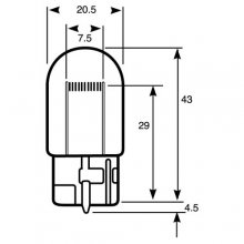 Wedge Stop/Flasher Car Bulb RU582