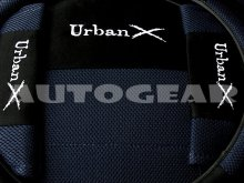 Black Blue Mesh Fabric Universal Car Seat Covers Pack +