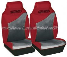 Red Grey Water Proof Car Front Seat Covers, Air Bag OK