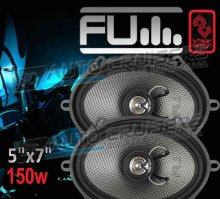 "FLI 5x7"" 150w 2-way Car Door Coaxial Underground Speakers Pair"