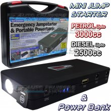 12v 3000cc 400A Portable Emergency Car Battery Jump Starter