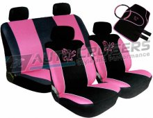 Pink/Black ButterflyCar Seat Covers Package Deal
