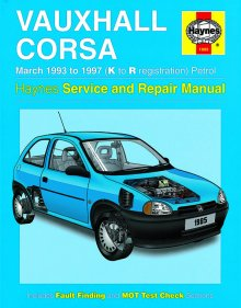 Haynes Repair Service Manual-Vauxhall Corsa Petrol (Mar 93 - 97)