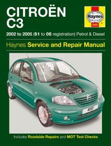 Haynes Repair Service Manual-Citroen C3 (2002 to 2005)