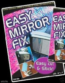 "Side Mirror Glass Easy Fix Solution Universal 10"" x 7"""