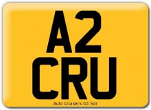 Standard Square Car Registration Number Plate  sc 1 st  Auto Parts Car Accessories Car Styling Glasgow & Standard Square Car Registration Number Plate Car Motorcycle Bike ...