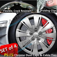 "14"" Car Wheel Trims Crack Resistant, Folding Clips LV"