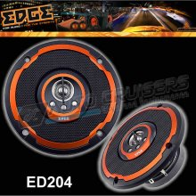 "EDGE 4 Way 4"" inch 100mm Car Van Door Speakers with Grills -Pair"