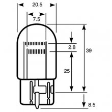 Wedge Stop & Tail Car Bulb RU580