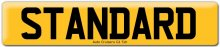 Standard Car Registration Number Plate