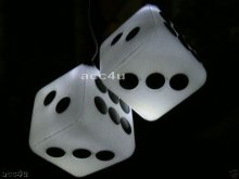 CAR LIGHT UP WHITE FLASHING LED DICE MOTION SENSOR