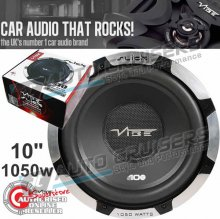 "Vibe Slick S10 1050w Car Van 10"" inch Sub Woofer Bass Subwoofer"