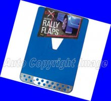 Universal Blue With Chrome Plate Car Rally Mud Flaps