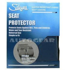 Water Proof Grey Car Front Rear Seat Protector Covers