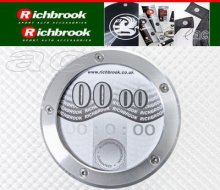 Richbrook Silver Twist Off Back Car Tax Disc Holder
