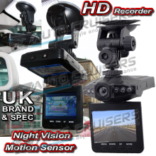 Car Van HD CCTV Recorder Night Vision & Motion Camera Adjustable