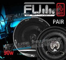 "FLI 4"" 90w Car Door Coaxial Underground Speakers Pair"