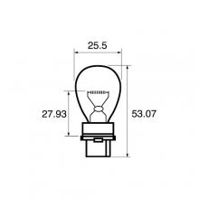 W2.5x16d P27W Flasher Car Bulb RU182
