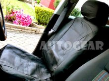 Taxi Car Black Leather Universal Seat Covers Split Rear