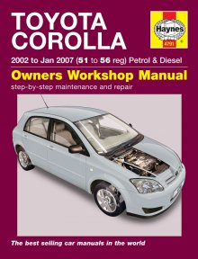 Haynes Repair Service Manual-Toyota Corolla(02 - Jan 07)51 to56