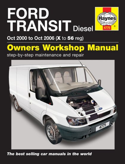 Haynes Repair Service Manual-Ford Transit Diesel (Oct 00 - Oct 0 - Click Image to Close