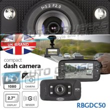 "Ring RBGDC50 In Car Windscreen 2.7"" HD Dash Cam"