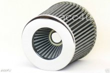 Universal Silver Chrome Car Air Filter Induction Kit