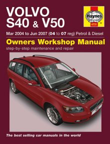 Haynes Repair Service Manual-Volvo S40 & V50 Petrol & Diesel Mar