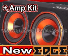 Edge Bass 12 Inch EDB12TA Twin Active Subwoofer Sub Box +Amp Kit