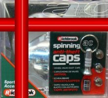 Richbrook Chrome Car Gift Set Poppy Coral+Tax Disc+Caps