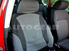 Car Black Grey Leather Seat Covers Package, Split Rear