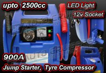 12V 900A Car Van Battery 4 in1 Jump Starter Booster Compressor