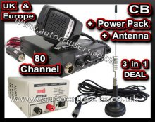 Midland 203 Plus Transceiver, Power Pack and CB Antenna Multi Ch