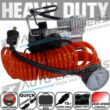 150psi 12v Heavy Duty Car Van 4x4 5m Air Hose Tyre Inflator