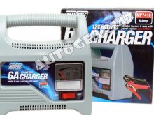 Compact 12V 6A Car Van Boat Battery Charger upto 1800cc