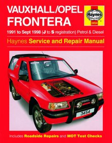 Haynes Repair Service Manual-Vauxhall/Opel Frontera Petrol and D