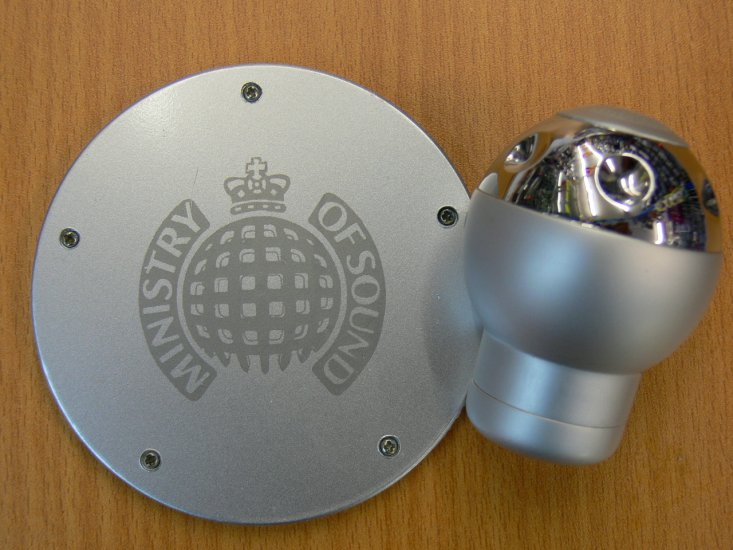 MOS Silver Alloy Aluminium Car Gear Knob+Free Tax Disc - Click Image to Close