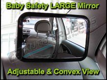 Car Rear Seat Headrest Mount Adjustable Baby Safety Mirror