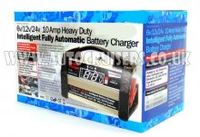 Intelligent Car Van Truck 6v 12v 24v 10A Battery Charger
